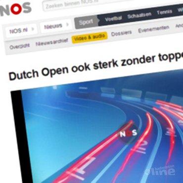 NOS Radio: 'Dutch Open ook sterk zonder toppers'