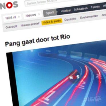NOS Radio: 'Eric Pang gaat door tot Rio 2016'