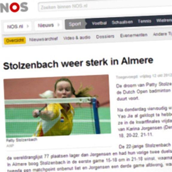 NOS: 'Stolzenbach weer sterk in Almere' - NOS