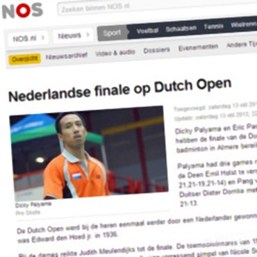 NOS: 'Nederlandse finale op Dutch Open'