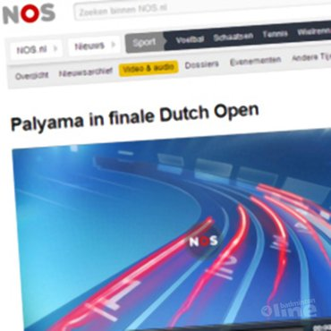 NOS Radio: 'Palyama in finale Dutch Open'