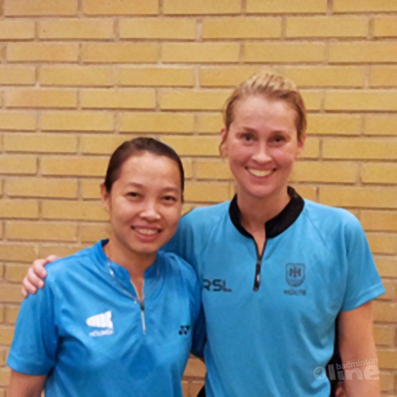 Huynh speelde tegen badmintonicoon en dertienvoudig Deens kampioene Camilla Martin - Ron Daniëls