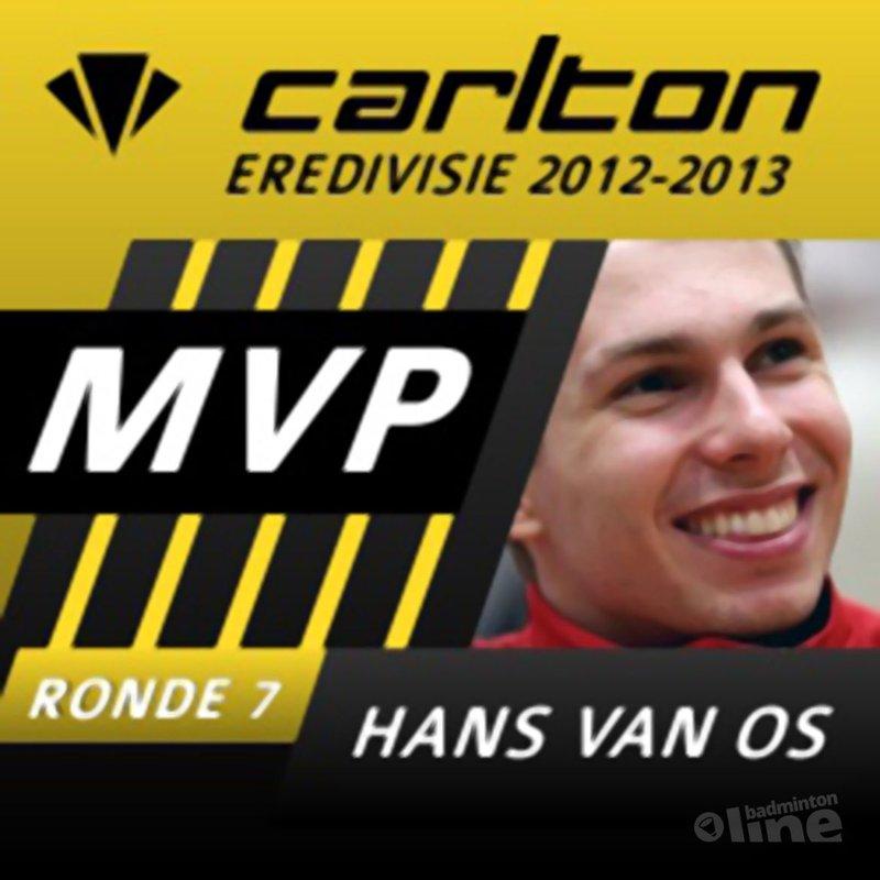 Hans van Os aangemerkt als MVP van speelronde 7 - badmintonline.nl