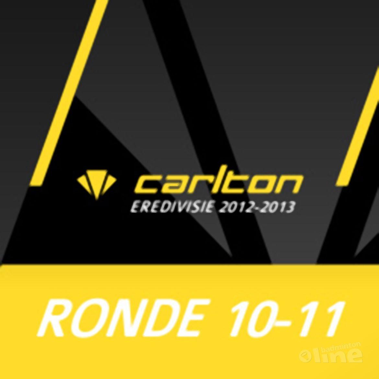 Carlton Eredivisie 2012-2013 - speelronde 10 en 11