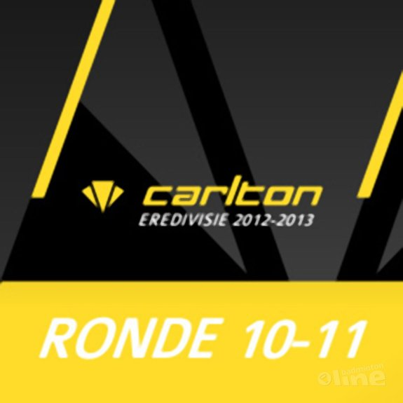 Carlton Eredivisie 2012-2013 - speelronde 10 en 11 - CdR