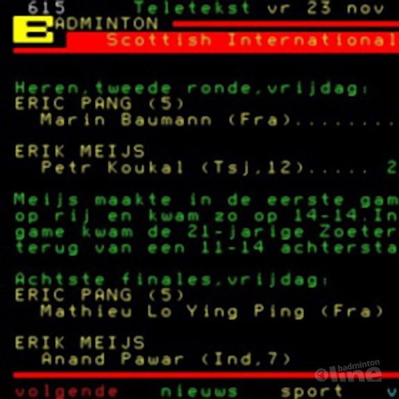 Erik Meijs: 'Succesvolle Scottish International' - NOS Teletekst