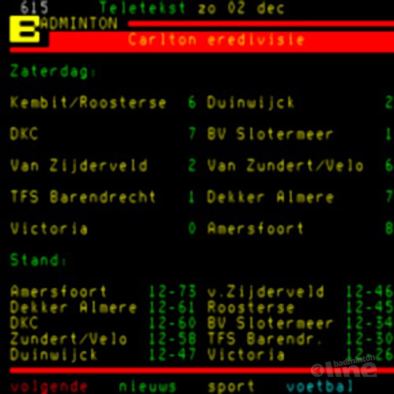 Deze afbeelding hoort bij 'Almere wint uit met 7-1 van TFS Barendrecht' en is gemaakt door NOS Teletekst