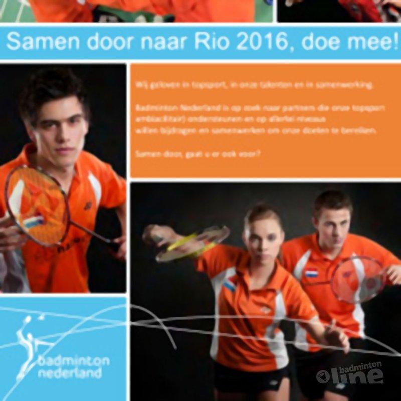Badminton Nederland zoekt sponsors: 'Samen door naar Rio 2016, doe mee!' - Badminton Nederland
