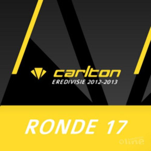 Carlton Eredivisie 2012-2013 - speelronde 17 - badmintonline.nl