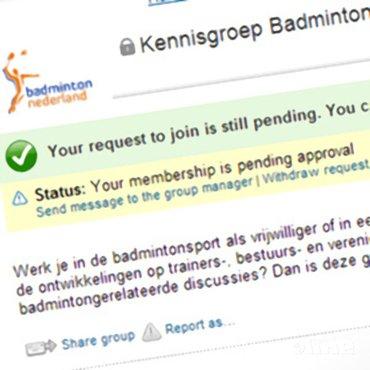 Kennisgroep Badminton op LinkedIn