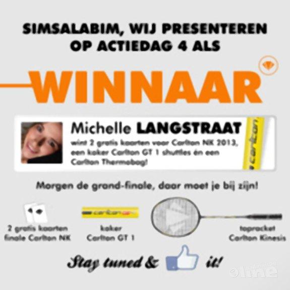 Ladies strike again: Michelle Langstraat is dagwinnaar 4! - Ron Daniëls