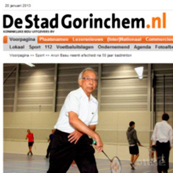 Arun Basu neemt afscheid na 50 jaar badminton - DeStadGorinchem.nl / Persburo Gorcum
