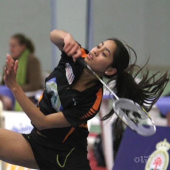 Deze afbeelding hoort bij 'Gayle Mahulette back on court: Amersfoort wint in play-off van VELO' en is gemaakt door BC Amersfoort