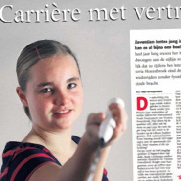 Dorien Lups pakt na een jaar blessureleed draad weer op