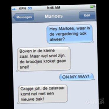 Broodje kroket met secretaris Marloes van Heteren blijkt slappe hap