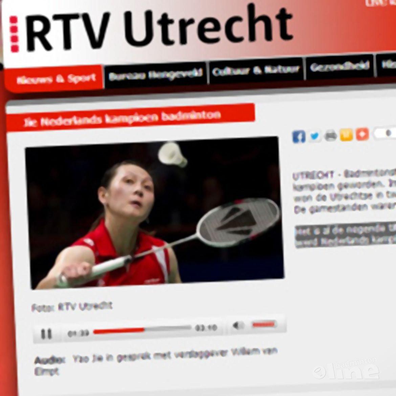 RTV Utrecht: 'Jie Nederlands kampioen badminton'