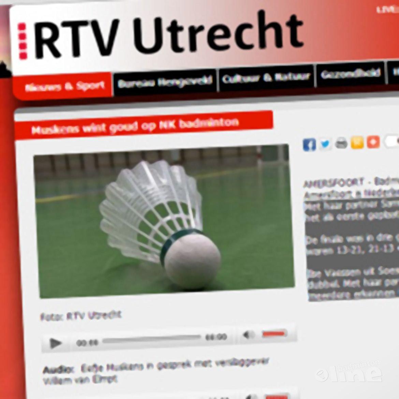 RTV Utrecht: 'Muskens wint goud op NK badminton'