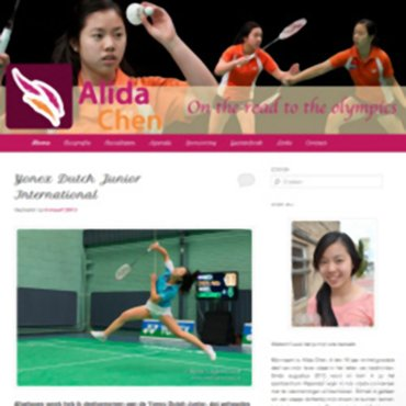 Alida Chen presenteert haar nieuwe website