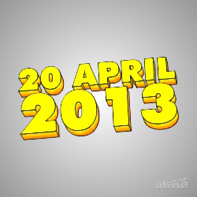 Badminton Nederland sluit de deuren op 20 april 2013