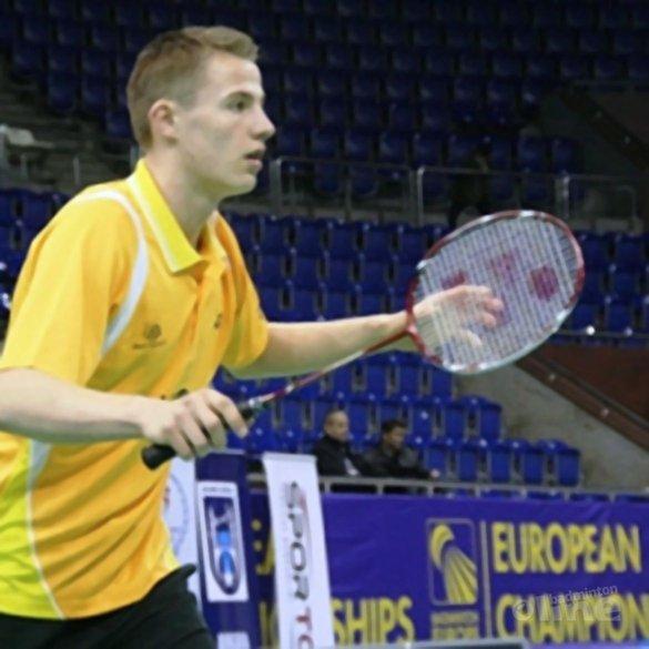 Mark Caljouw pakt zilveren plak op EJK - Badminton Nederland