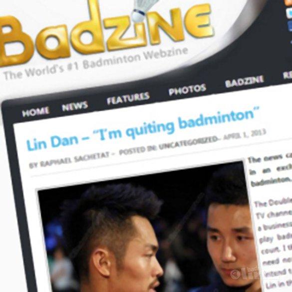 Lin Dan: 'I'm quitting badminton' - Ron Daniëls