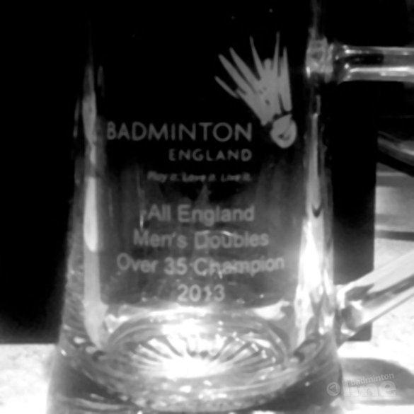 Jurgen van Leeuwen winnaar All England Seniors (35+) - Twitter / Jurgen van Leeuwen