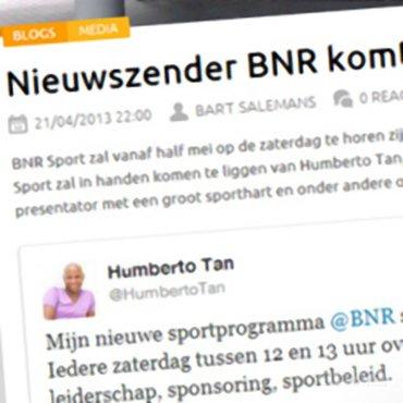 Sportnext: 'Nieuwszender BNR komt met sport!'