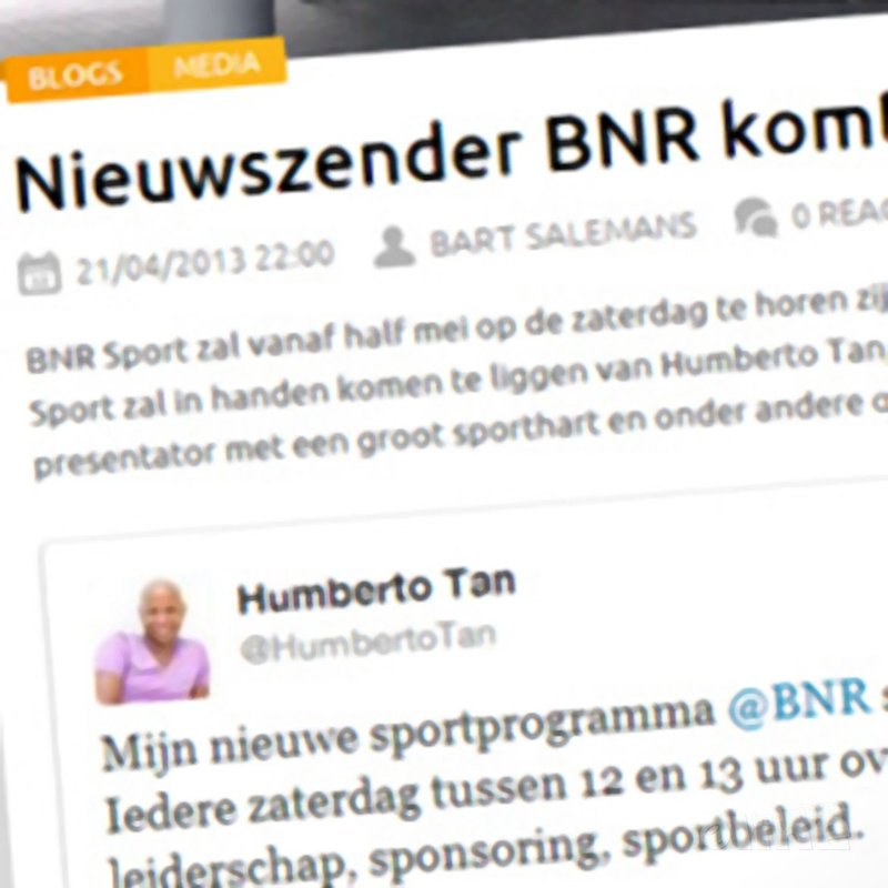 Sportnext: 'Nieuwszender BNR komt met sport!' - Sportnext