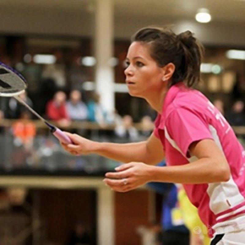 Badmintonbabe Sarah Lammers maakt badmintonrentree tijdens MR Badminton Cooling Down - Alex van Zaanen