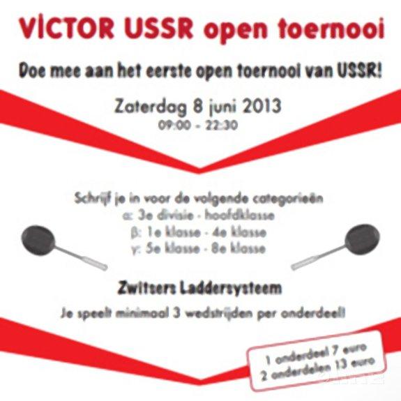 USSR organiseert op 8 juni 2013 het eerste Open Badmintontoernooi - USSR
