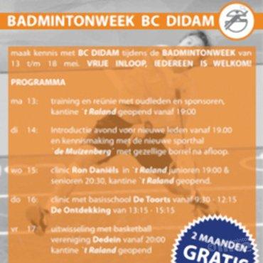 Badmintonweek bij BC Didam