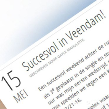 Gayle Mahulette: 'Succesvol in Veendam!'