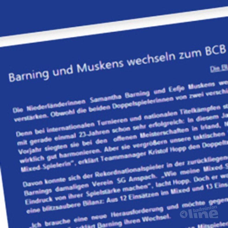 Deze afbeelding hoort bij 'Samantha Barning voegt zich bij Bischmisheim in Saarbrucken' en is gemaakt door BC Bischmisheim