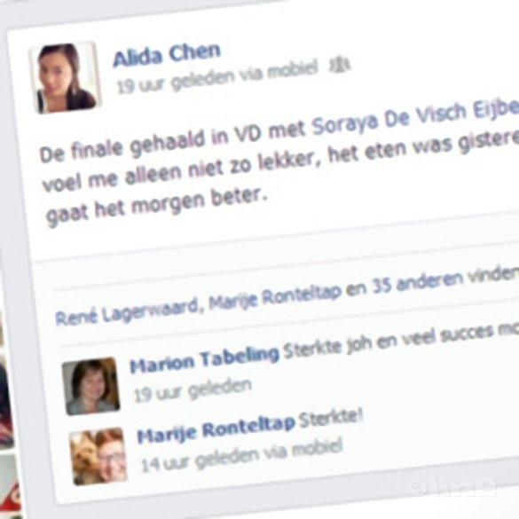 Geen finale wedstrijd voor Soraya de Visch Eijbergen en Alida Chen - Alida Chen