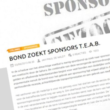 Sportnext: 'Bond zoekt sporters t.e.a.b.'