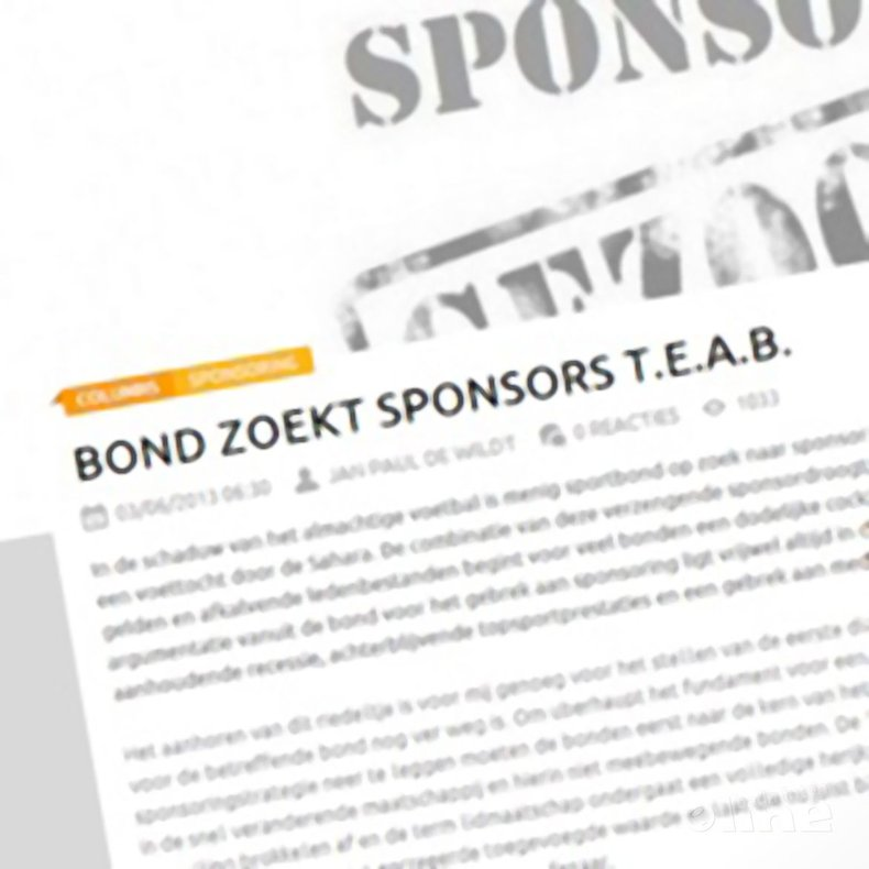 Deze afbeelding hoort bij 'Sportnext: 'Bond zoekt sporters t.e.a.b.'' en is gemaakt door Sportnext.nl