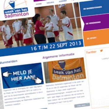 Doet jouw vereniging al mee aan de Week van het Badminton 2013?