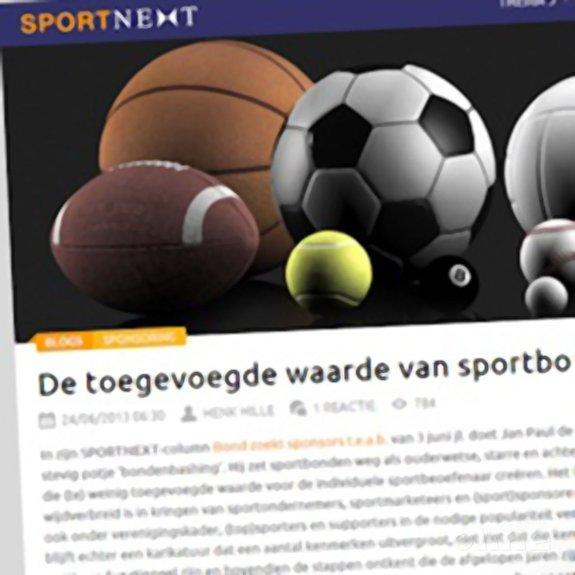 Deze afbeelding hoort bij 'Sportnext: 'De toegevoegde waarde van sportbonden'' en is gemaakt door Sportnext.nl