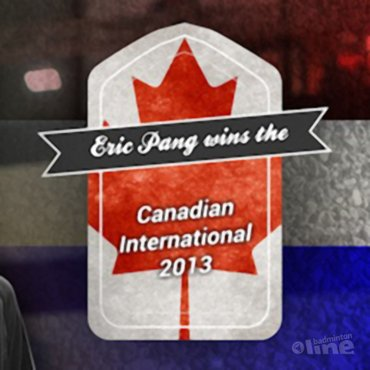 Eric Pang wint de Canadian International 2013 in Ottawa