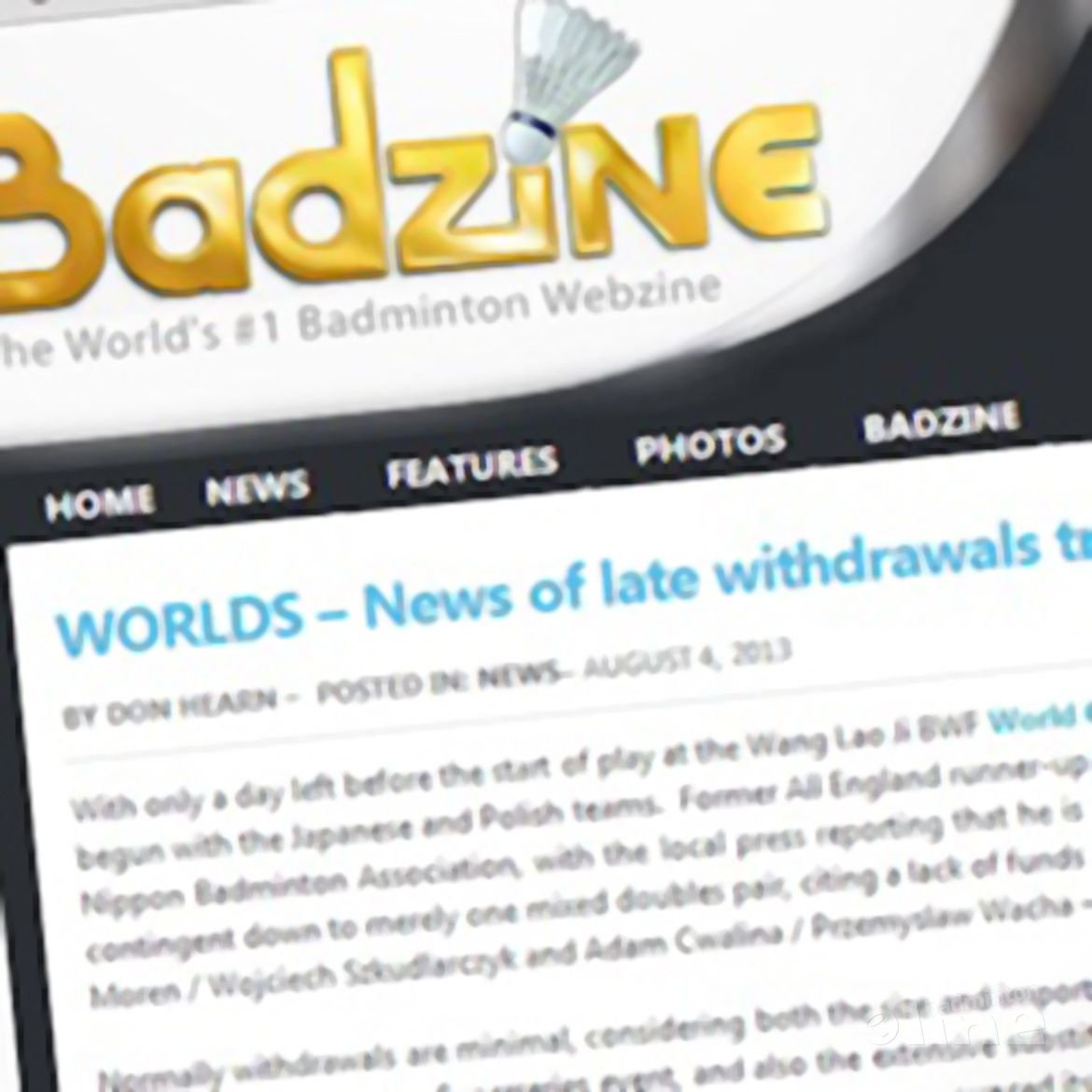 Badzine: 'News of late withdrawals trickles in early'