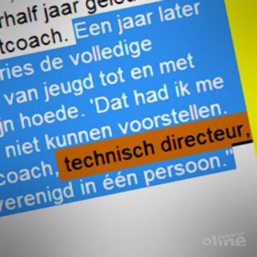 RECTIFICATIE: Rune Massing is GEEN technisch directeur van Badminton Nederland
