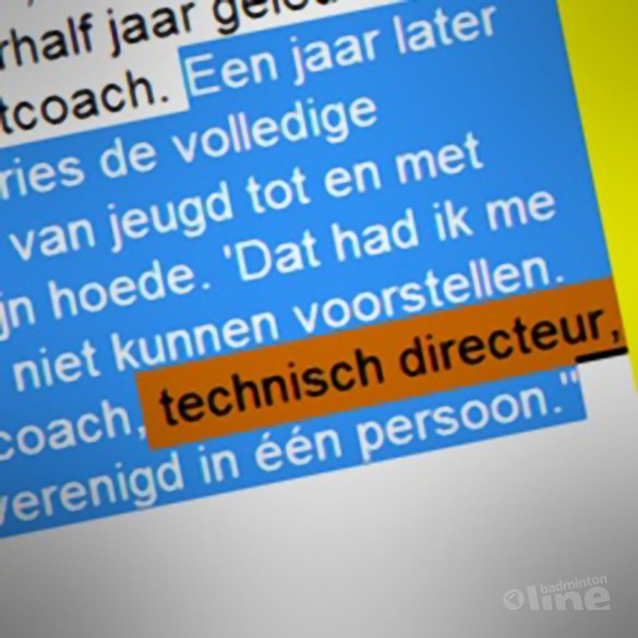 RECTIFICATIE: Rune Massing is GEEN technisch directeur van Badminton Nederland - AD