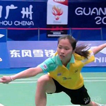 Thaise schrijft badmintonhistorie