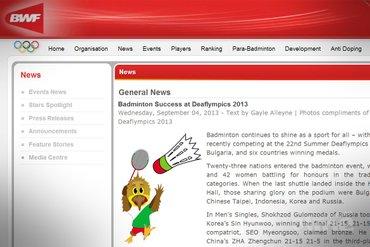 Badminton Success at Deaflympics 2013