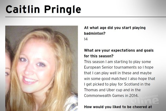 Caitlin Pringle tells about herself - BC Duinwijck