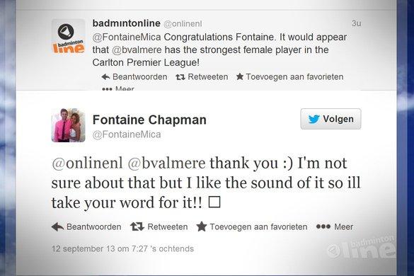 Fontaine Chapman passeert Akvile Stapusaityte in Leuven - Twitter