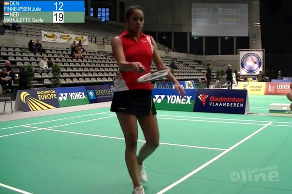 Gayle Mahulette in gevecht met haar zenuwen - Badminton Europe