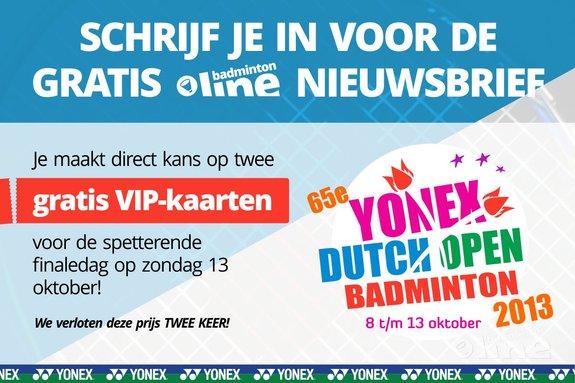 Deze afbeelding hoort bij 'Scoor gratis VIP-kaarten voor de Yonex Dutch Open finaledag! (actie gesloten)' en is gemaakt door badmintonline