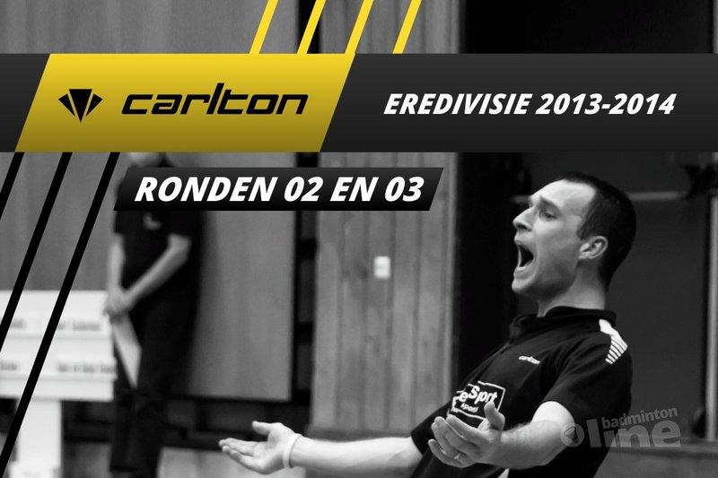 Carlton Eredivisie 2013-2014 - speelronden 2 en 3 - badmintonline / Alex van Zaanen