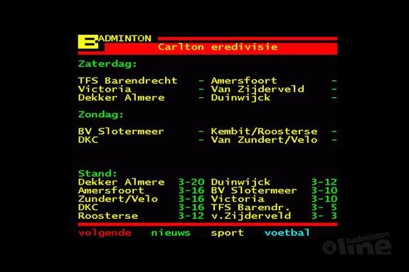 Deze afbeelding hoort bij 'Almere zaterdag tegen Duinwijck' en is gemaakt door Teletekst